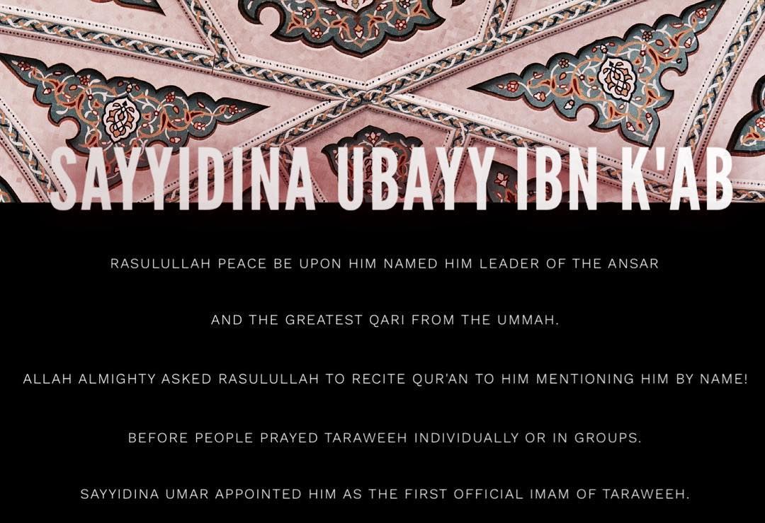 Image result for UBAYY IBN KA'B