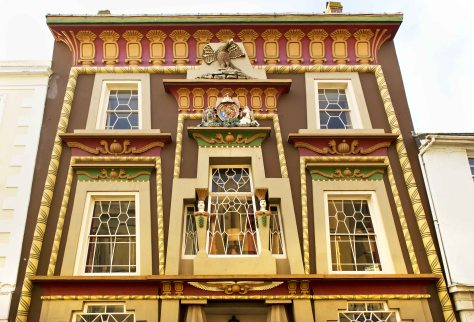 The Egyptian House, Penzance, Cornwall. Egypt in England.