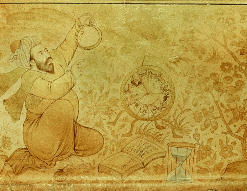 An-early-seventeenth-century-margin-drawing-from-the-folio-in-Jahangirs-Album-showing-an