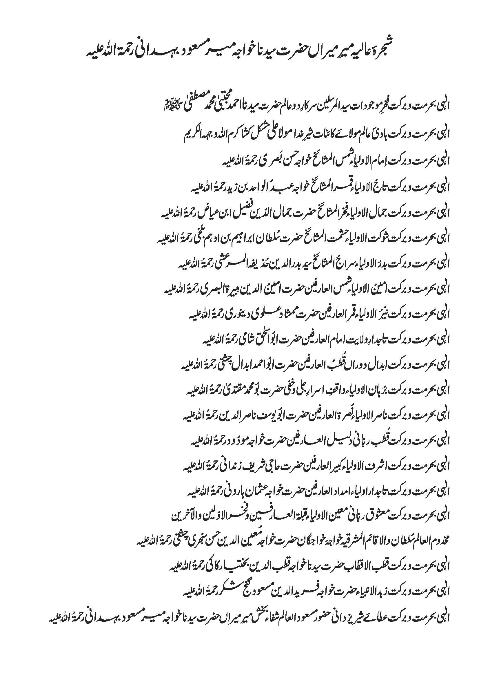 Shajra e Tariqat